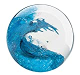 Glass Eye Studio Cresting Wave Blown Glass Paperweight
