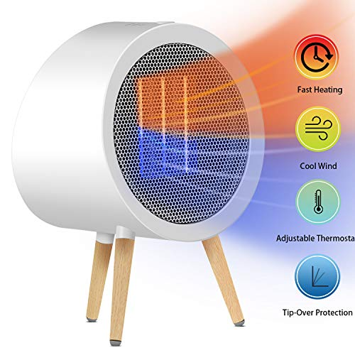 Space Heater, GoGoMart 1000W Small Energy Efficient Electric Space Heaters/Safety Auto Shut Off/Overheat &Tip-Over Protection/1s Quick Heat-up/Ultra Quiet for Desk Office Large Room(ETL Listed) (The Best Space Heaters Energy Efficient)