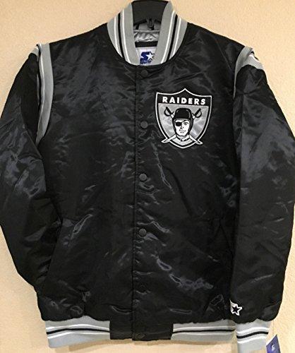 "Oakland Raiders NFL Men's Starter ""The Enforcer"" Premium Satin Jacket(XXL)"