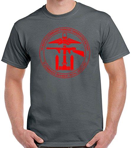 Commando T-shirt Unit - Pro Art Shirts Men's 148 Meiktilla Commando T-Shirt 2XLarge Charcoal