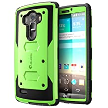 LG G4 Case, [Heave Duty][Slim Protection] i-Blason Armorbox [Dual Layer] Hybrid Full-body Protective Case with Front Cover and Built-in Screen Protector Resistant Bumpers Cover 2015 Release (Green)