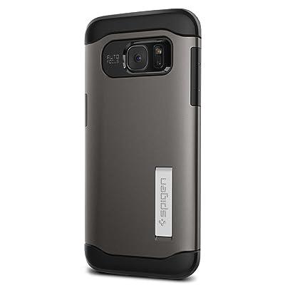 Spigen Funda para Galaxy S7 Edge Carcasa [Slim Armor] Tecnología de Cojín de Aire y Protección Híbrida de Caída para Samsung Galaxy S7 Edge, Gunmetal (Color Plata