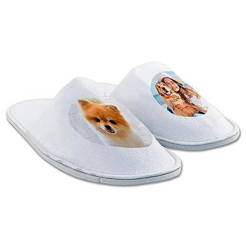 Zapatillas de casa para Personalizar con la Imagen y el Texto Que Quieras (Zapatillas Personalizadas