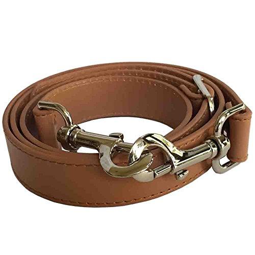 "1"" Camel Adjustable Replacement Cross Body Handbag Purse Strap with Nickel Tone Hardware"