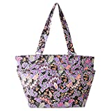 quilted tote black - Waverly Large Tote (Quilted Black Multi Paisley)