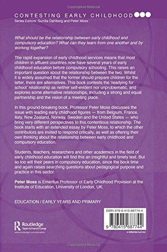 early childhood and compulsory education reconceptualising the  early childhood and compulsory education reconceptualising the relationship contesting early childhood amazon co uk peter moss books