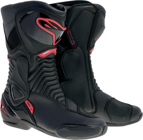 Red Motorcycle Boots - 6