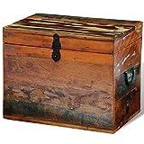 Daonanba Practical Reclaimed Solid Wood Storage Box Antique-style Storage Chest Organizer