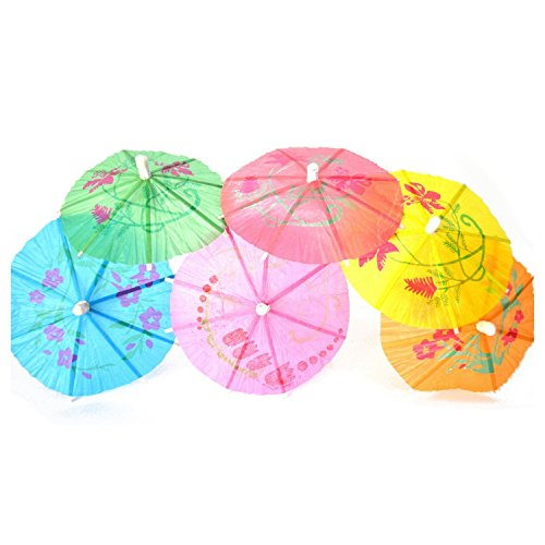 Other Bar Accessories - 100 Mixed Paper Cocktail Umbrellas Parasols Drinks - Cocktail Women Umbrella Halloween Flower Parasol Other Cocktail Straw Umbrella Plastic Umbrella Umbrella Umbrella U -