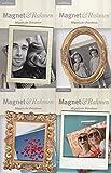 """4 er Set aus verschiedenen """"Magnet und Rahmen"""" - Magnetische Fotorahmen - Magnetrahmen - Coole Rahmen für deine Lieblingsfotos! Diese magnetischen Bilderrahmen befestigt Fotos oder Karten an Kühlschranktüren, Magnettafeln und anderen magnetischen Oberflächen."""