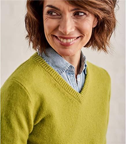 Overs Wool Laine Green Femme Lichen V Col D'agneau Pull À STrRqwTd