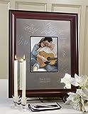 Signature Keepsakes Frame Engravable Signature Mat Guest Book, Medium, Silver/Mahogany/Black