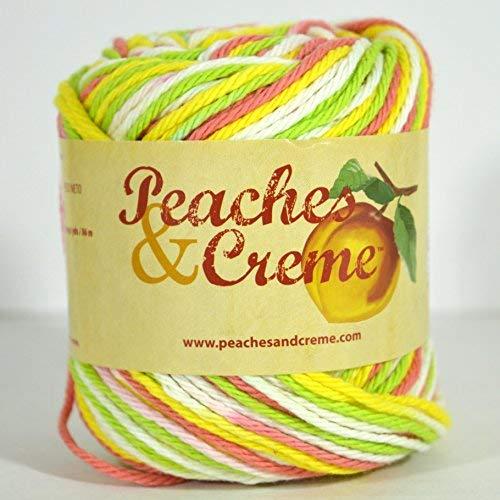 - Spinrite Peaches & Creme (Cream) Cotton Yarn Pink Lemonade 2 oz