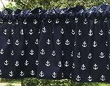 Cheap Nautical Navy Blue & White Sail Boat Anchors Sailor Beach Curtain Valance a4/35
