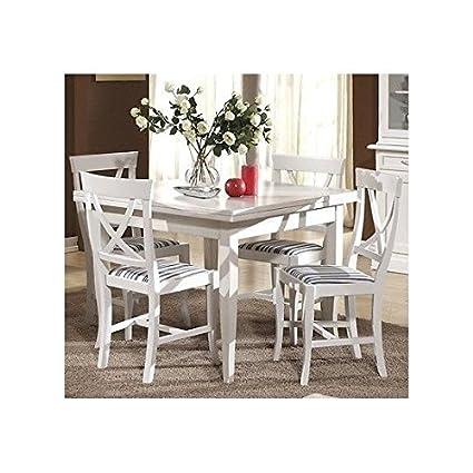Tavolo Cucina Bianco Legno.Estea Mobili Tavolo Legno Quadrato 100x100 Allungabile 4