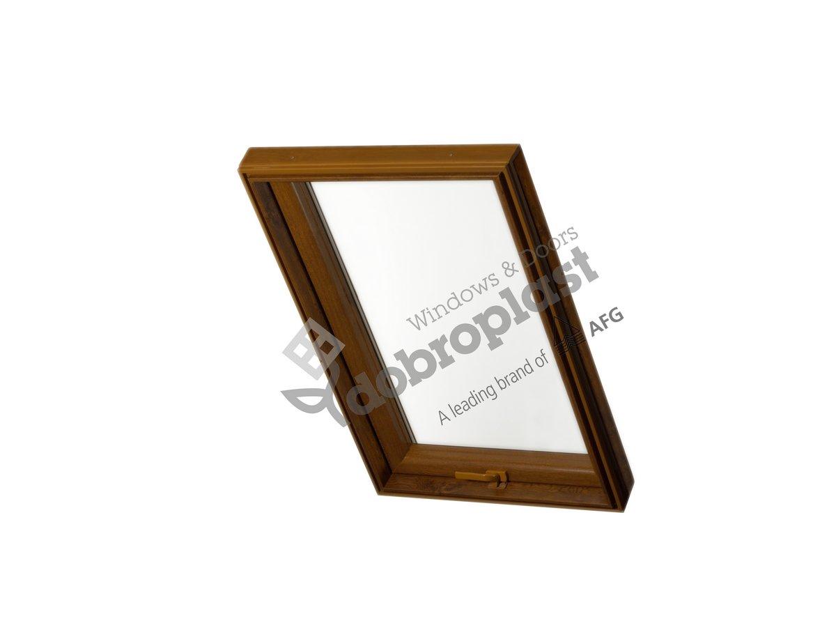 Skylight Premium Dachfenster mit Dauerl/üftung PVC 94 x 118 mit Eindeckrahmen