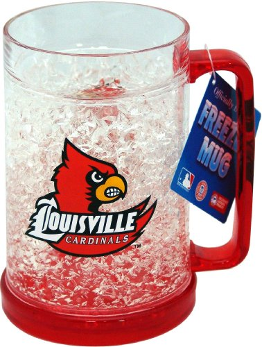 NCAA Louisville Cardinals Crystal Mug (Freezer Cardinals Mug)