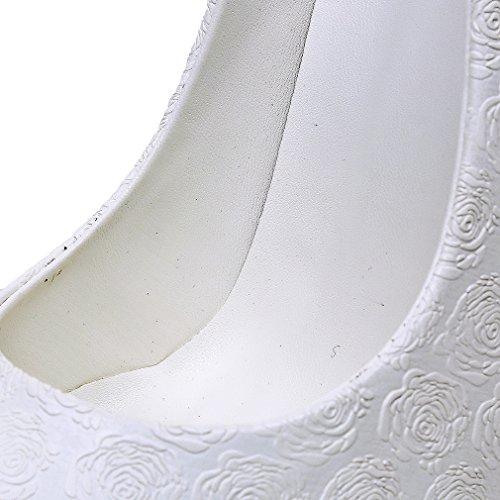 Escarpins Aiguille Sur De 10cm Femmes Talon Glisser Blancs Vaneel Des Les CORzFqqw