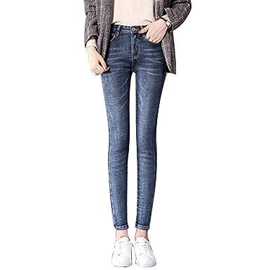60cd789096b93a HIENAJ Women's Slim Fit Fleece Lined Jeans High Waist Warm Stretchy Skinny  Denim Pants at Amazon Women's Jeans store