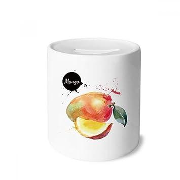 DIYthinker Manga de Apple Fruta Sabrosa de la Acuarela Caja de Dinero de Las Cajas de ahorros de cerámica Adultos Moneda de la Caja para niños: Amazon.es: ...