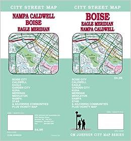 Boise Eagle Meridian Nampa Caldwell Idaho Street Map Gmj Gm