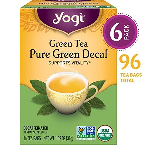 (Yogi Tea - Green Tea Pure Green Decaf - Supports Vitality - 6 Pack, 96 Tea Bags)