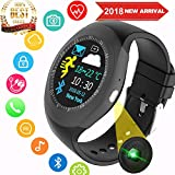 Fitness Tracker Smart Watch Heart Rate Blood Pressure Monitor Men Women Kid Outdoor Sport Watch Pedometer Activity GPS Tracker Calorie Sleep Monitor Call SMS Sync Phone Run Travel Office Android iOS