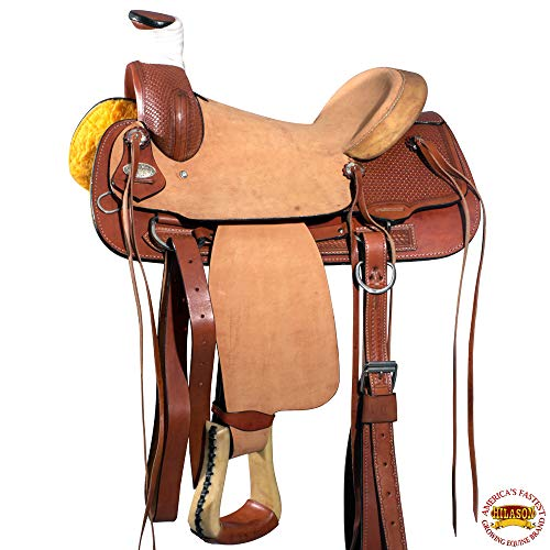 HILASON 16 Western Horse Saddle Wade Ranch Roping Cowboy Leather Big King