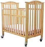 Dream On Me Juno Mini Pinewood Ultra Convenience Crib, Natural