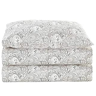 Mellanni Bed Sheet Set Brushed Microfiber 1800 Bedding - Wrinkle, Fade, Stain Resistant - Hypoallergenic - 3 Piece (Twin, Paisley Gray) (B01CYLCDCU) | Amazon price tracker / tracking, Amazon price history charts, Amazon price watches, Amazon price drop alerts
