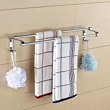 Daadi Baño toallero, Plegable de Acero Inoxidable Toallas baño baño Racks de Pared-,50cm Doble Barra: Amazon.es: Hogar
