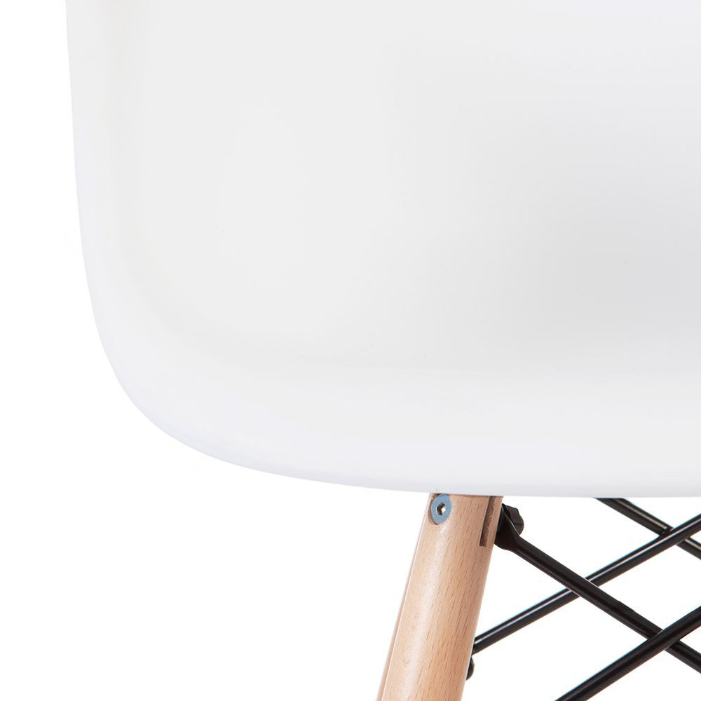 2xhome - White - Kids Size Eames Armchair Eames Chair White Seat Natural Wood Wooden Legs Eiffel Childrens Room Chairs Molded Plastic Seat Dowel Leg by 2xhome (Image #7)