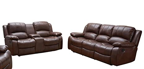 Prime Betsy Furniture 2Pc Bonded Leather Recliner Set Living Room Set Sofa Loveseat Chair Pillow Top Backrest And Armrests 8018 Brown Living Room Set Lamtechconsult Wood Chair Design Ideas Lamtechconsultcom