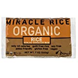 zero rice - Miracle Noodle Organic Gluten Free Zero Carbs Shirataki Miracle Rice, 7-Ounce, 6-Count