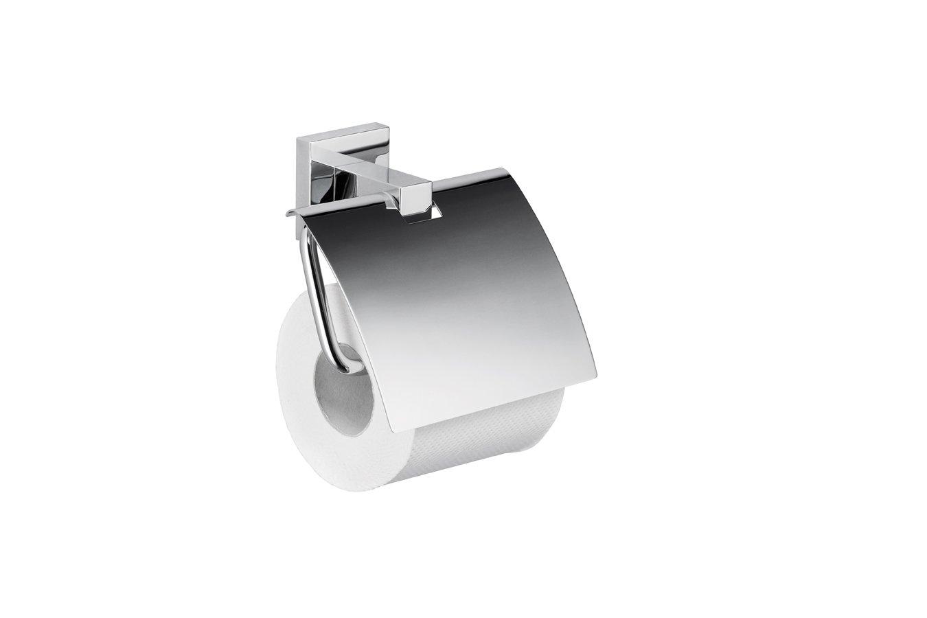 Papierhalter mit Deckel »BATH 420« verchromt B008LUADJO B008LUADJO B008LUADJO Toilettenpapierhalter 421188