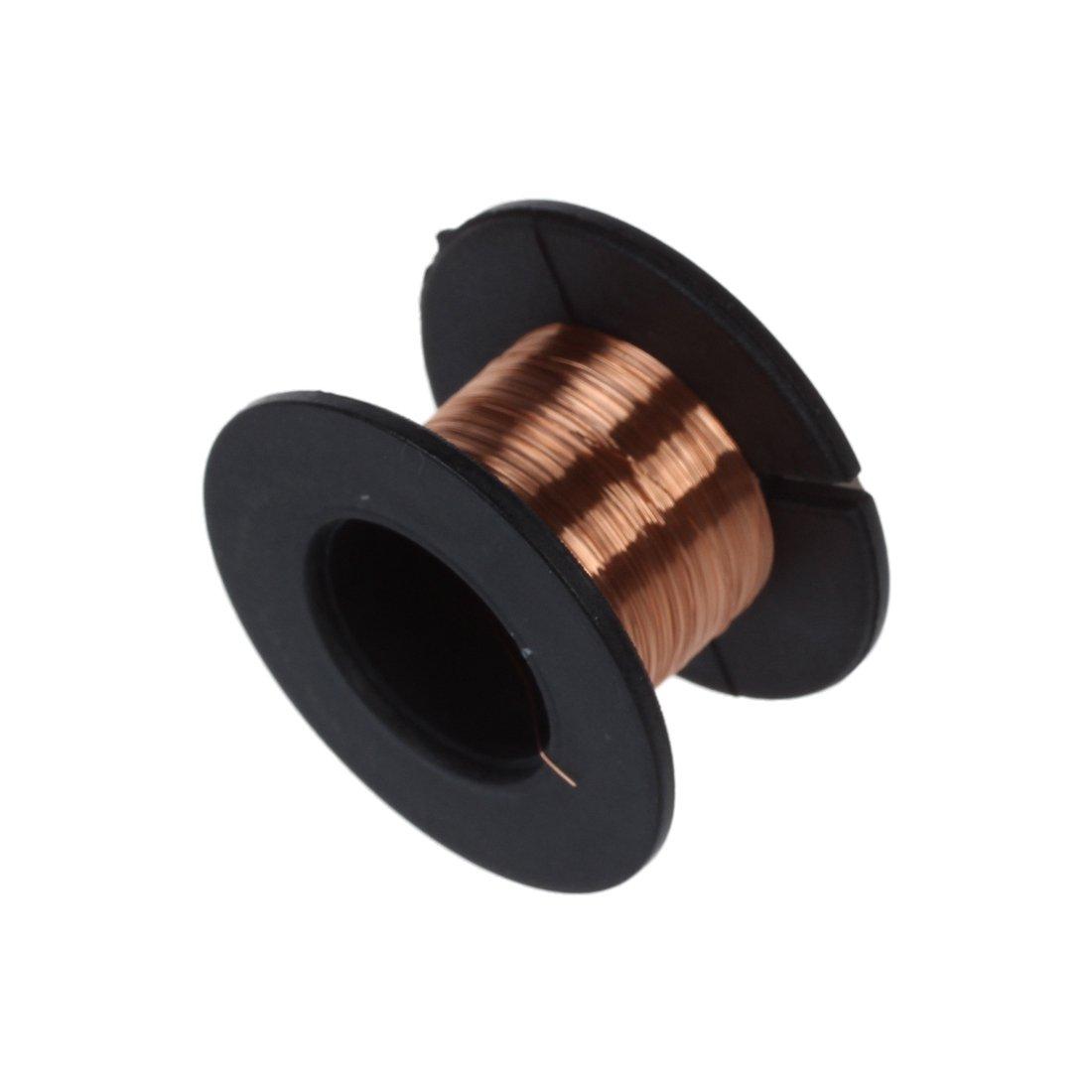 Cikuso 1pcs 15m 0.1mm cuivre a souder soudure emaille bobine de fil Rouleau Connexion