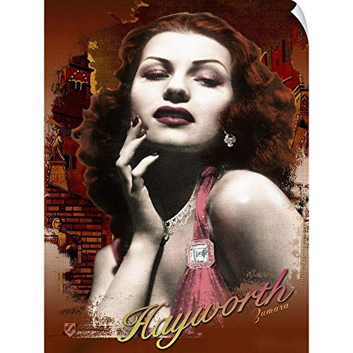 Hayworth Accent - CANVAS ON DEMAND Rita Hayworth Verona Glamour Wall Peel Art Print, 36