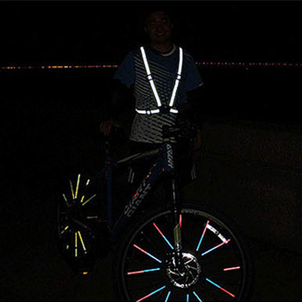 Warnweste Running Reflektorweste Laufen Sicherheitsweste Sport f/ür hohe Sichtbarkeit in Abend und Joggen Laufen Radfahren Wandern KOBWA Reflektierende Einstellbar Warnweste