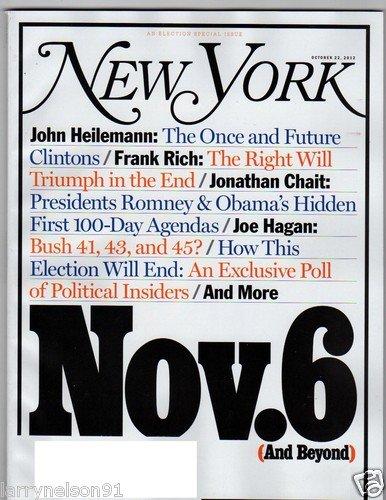 NEW YORK MAGAZINE OCTOBER 22, 2012 (NOV. 6 & BEYOND)