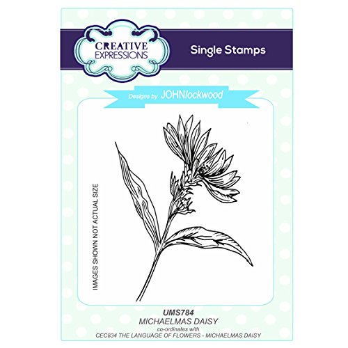 Creative Expressions John Lockwood's Language of Flowers A6 Stamp - UMS784 Michaelmas ()