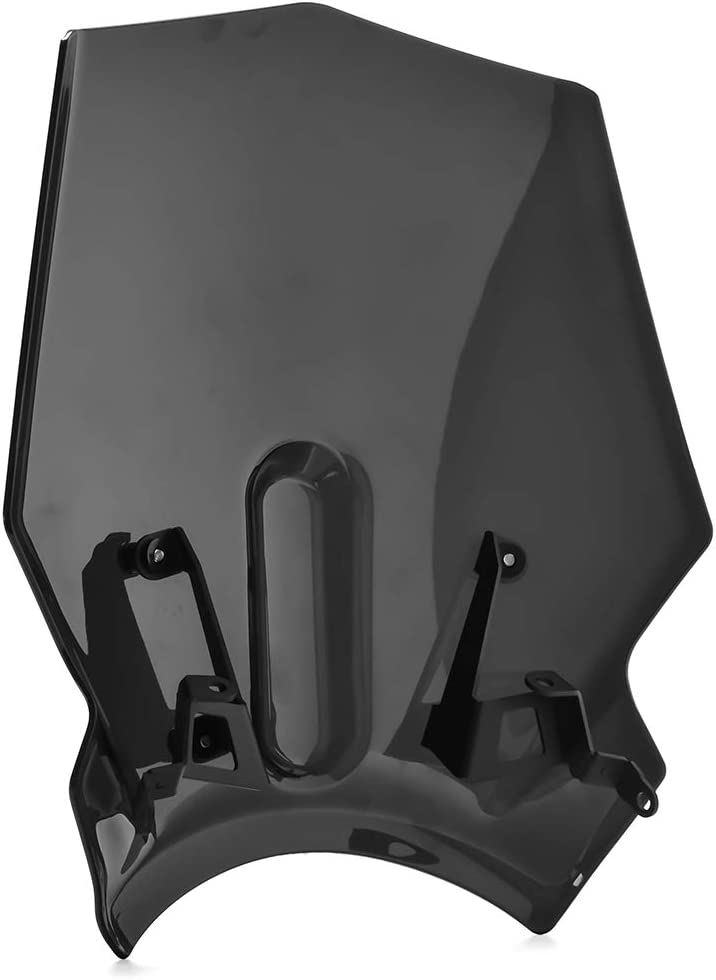 Lorababer for Honda CB125R CB300R CB250R 2018 2019 2020 Windscreen Windshield Shield Screen Visor Parabrisa with Bracket Motorcycle Accessories Smoke