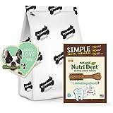 Nylabone Nutri Dent Simple Limited Ingredients Dental Dog Chew Treatsfilet Mignon125 Countmini