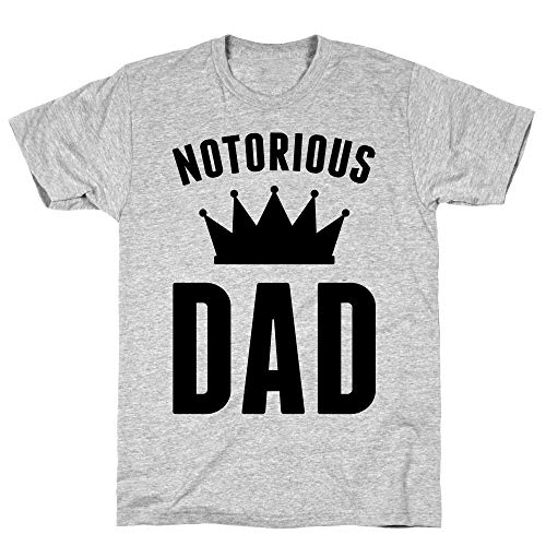 LookHUMAN Notorious DAD Large Athletic Gray Men's Cotton