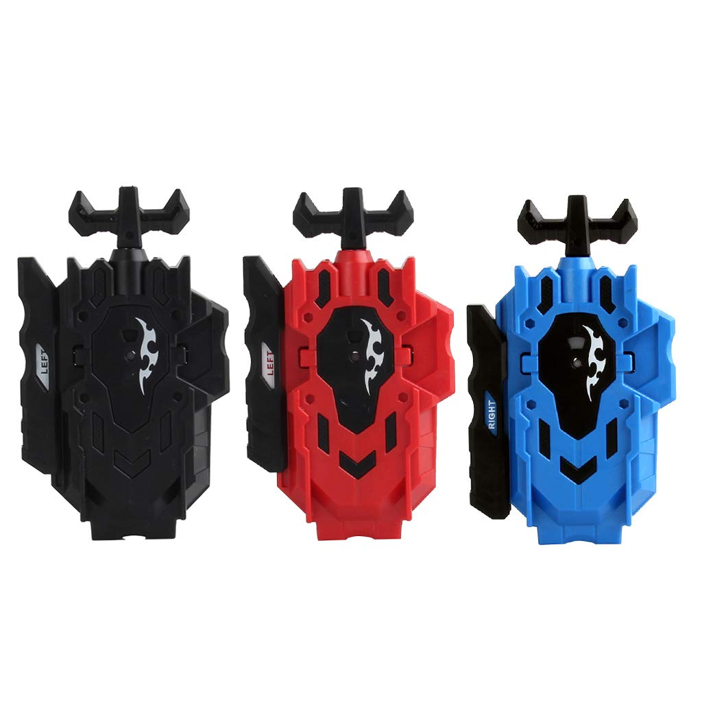 MagiDeal Pack 3pcs Double Steering String Launcher Burst Spinning Top Rapidity Fight Replacement Kids Toy