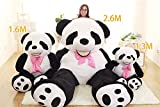 Super Soft Black White Big Bear Anniversary Gifts For Him Hug Body Pillow Panda Bear Plush Toys 51 inches