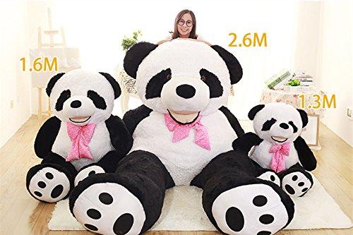 Super Soft Black White Big Bear Anniversary Gifts For Him Hug Body Pillow Panda Bear Plush Toys 51 inches