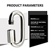 """Yasorn 5-Pack M6/0.24"""" Stainless Steel D Shape"""