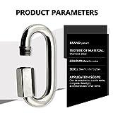 Yasorn Stainless Steel D Shape Locking Carabiner