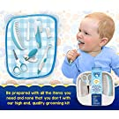 My Happy Tot Baby Grooming Kit - High Quality Essential Set for Infants, Newborns, Kids, Boys and Girls. Unisex Kit Includes Nail Clipper, Brush, File, Scissors, Comb, Toothbrush & Finger Toothbrush