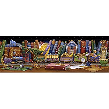 Vermont Christmas Company Train of Dreams Panoramic Jigsaw Puzzle 1000 Piece